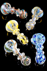 Small Color Changing Striped Glass Pipe - P1619