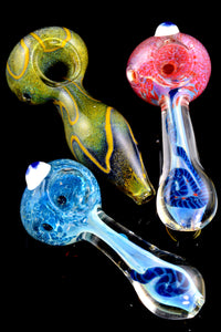 Small Color Changing Frit Glass Pipe - P1627