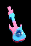 Colorful Silicone Guitar Pipe with Glass Bowl - P1643