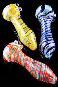 Color Changing Spiral Striped Glass Pipe - P1662