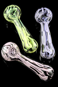 Striped Glass Pipe - P1673