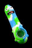 Pickle Rick Silicone Pipe with Glass Bowl - P1709