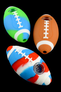 Football Silicone Pipe with Glass Bowl - P1719