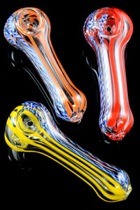 Small Multicolor Striped Glass Pipe - P1811