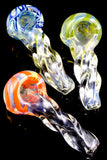 Small Color Changing Twisted Glass Pipe - P1897
