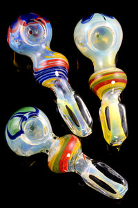 Color Changing Striped Glass Pipe - P1914