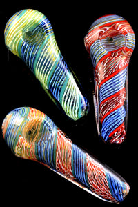 Color Changing Spiral Glass Pipe - P1928