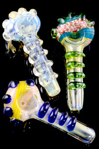 Color Changing Swirl Glass Pipe - P1940