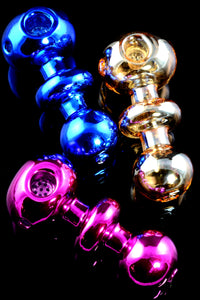 Thick Colored Metallic Glass Pipe - P2038