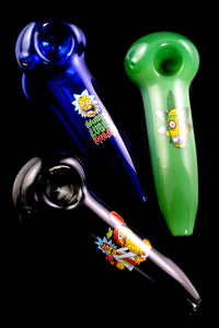 Colored R&M Decal Glass Pipe - P2184