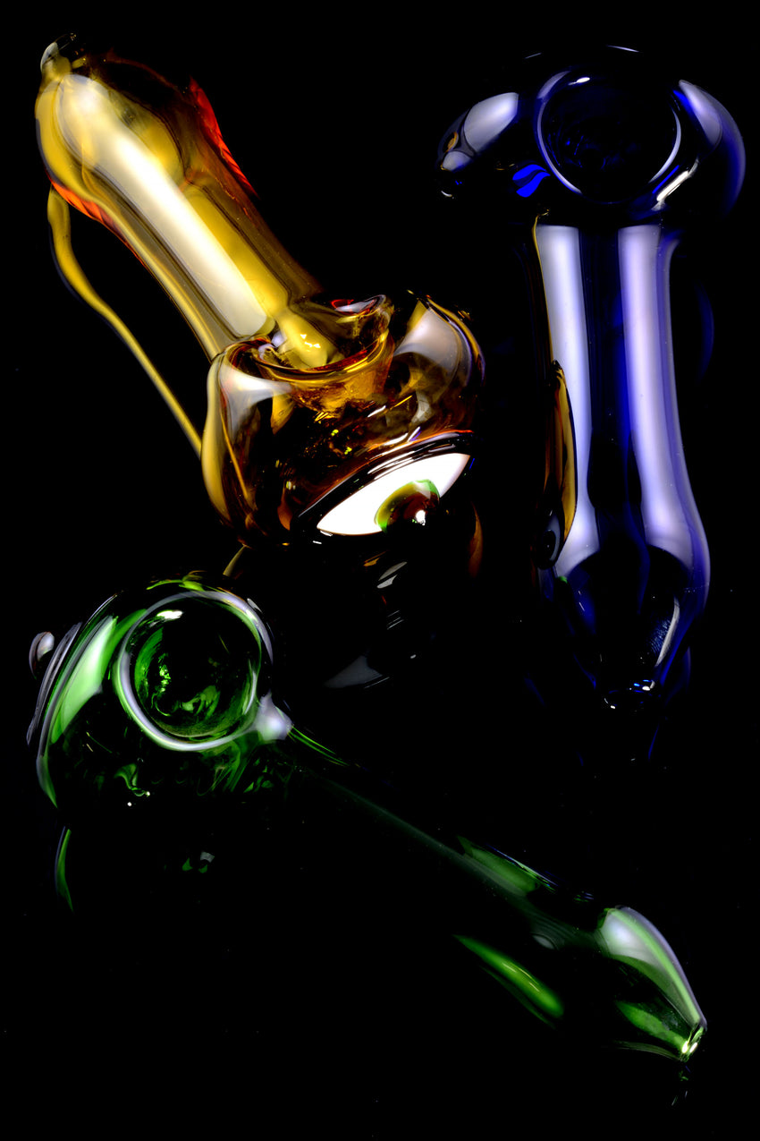 Colored Eyeball Glass Pipe - P2233