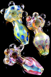 Thick Heavy Color Changing Marble Glass Pipe - P2242