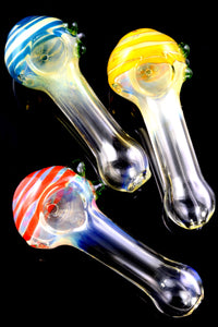 Small Striped Color Changing Glass Pipe - P2244