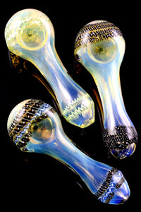 Thick Color Changing Multicolor Striped Glass Pipe - P2282