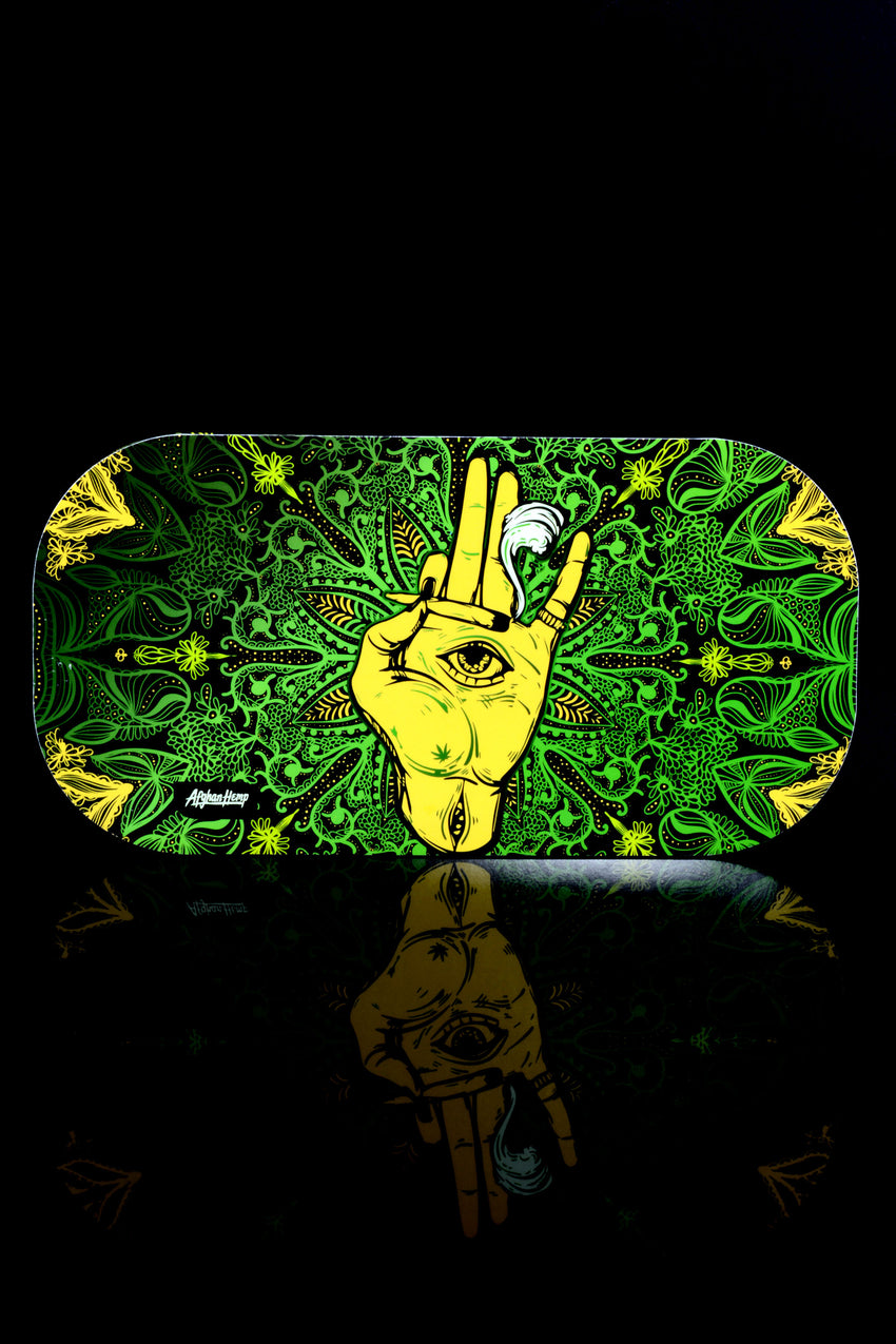 Small Afghan Hemp Rolling Tray with Magnetic Lid - RP261