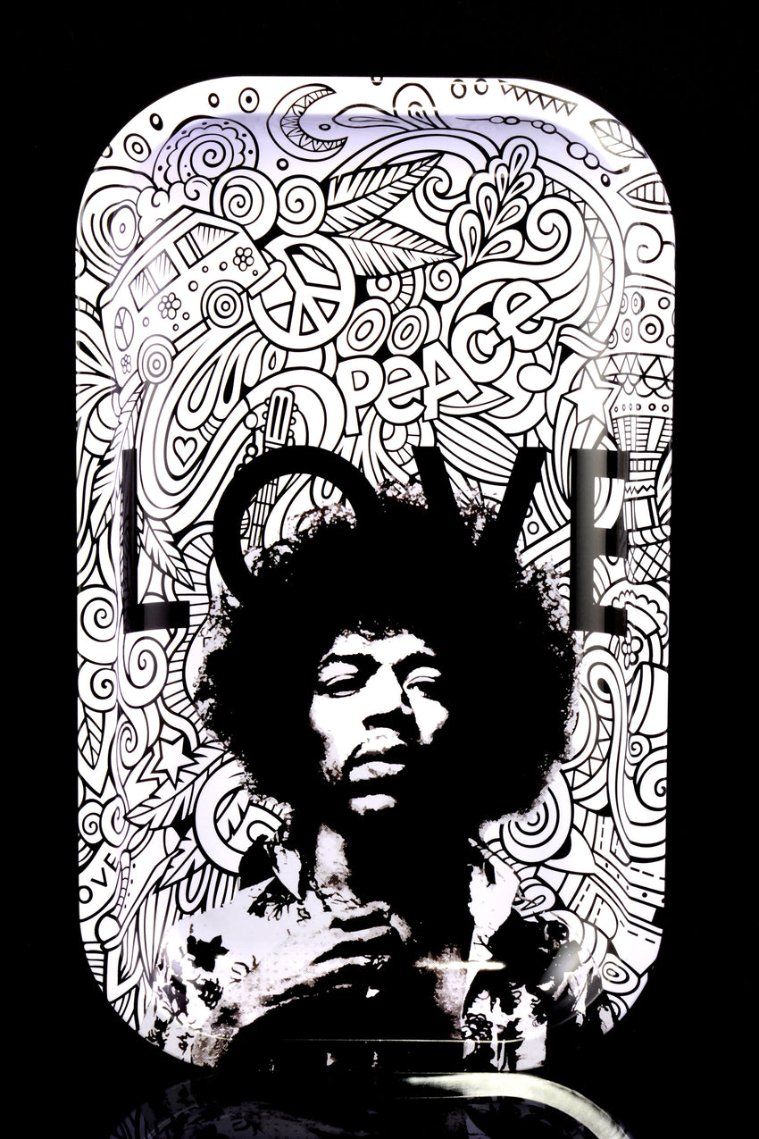 "Rock Legends Jimi ""Love"" Vertical Metal Rolling Tray - RP271"