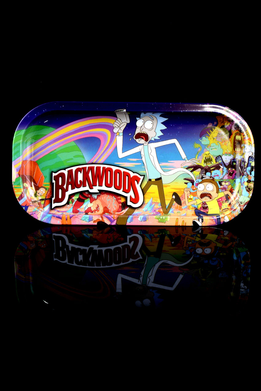 Mini Backwoods Metal Rolling Tray - RP291