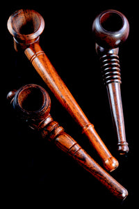 (Mix) Carved Wood Pipe - W0212