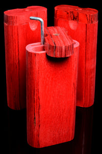 Large Red Dugout with Poker - W0216