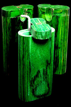 Large Green Dugout with Poker - W0217