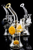 Medium Stemless GoG Recycler Water Pipe with Showerhead Perc - WP1211