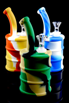 Colorful 2 Part Silicone Barrel Water Pipe - WP1445