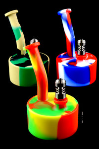 Colorful 2 Part Silicone Dab Rig - WP1447