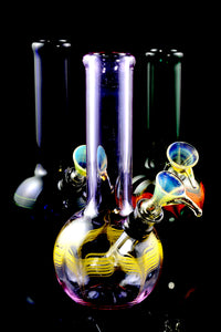 (US Made) Small Colorful Colored Glass Water Pipe - WP1522
