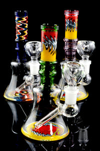 Mini Reverse Stemless Glass on Glass Water Pipe - WP1525