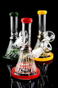 Mini Colored Glass Water Pipe with Stemline Percolator - WP1526