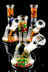 Mini Reverse Stemless Glass on Glass Water Pipe - WP1564