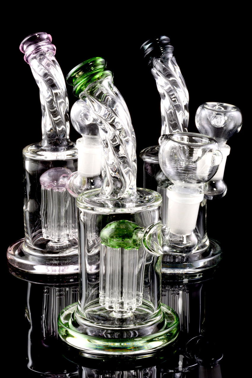 Small Stemless GoG Twisted Water Pipe with Tree Perc - WP1566