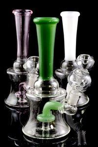 Small Stemless Glass Water Pipe with Stemline Showerhead Perc - WP1567