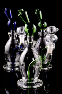 Small Stemless Glass on Glass Water Pipe - WP1576