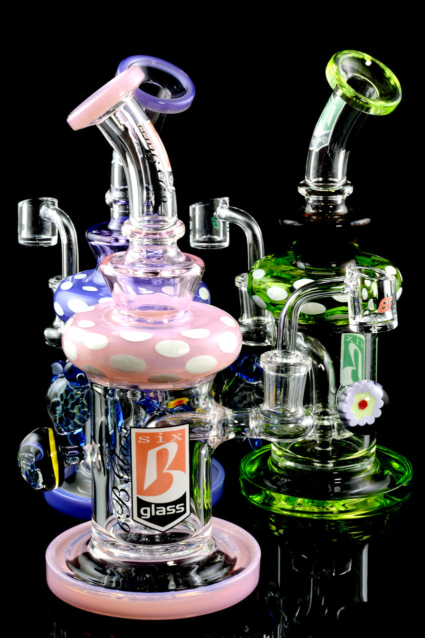 Small Stemless GoG Sea Turtle Marble Dab Rig - WP1608