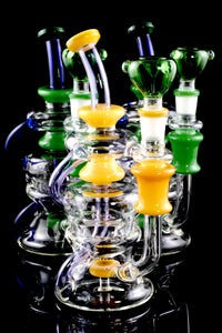 Large Colored Stemless GoG Recycler Water Pipe - WP1642