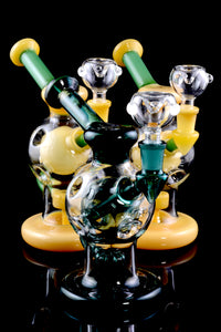 Medium Stemless GoG Recycler Water Pipe with Faberge Egg Chamber - WP1643