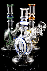 Small Stemless GoG Striped Water Pipe - WP1676