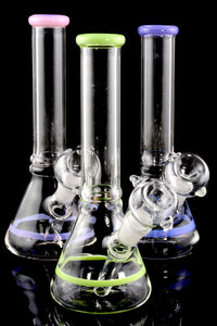 Small StemlessStriped GoG Water Pipe - WP1680