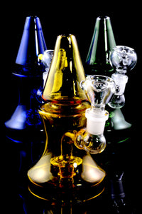 Small Stemless Colored GoG Cone Water Pipe - WP1681