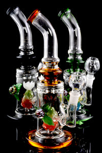 Medium Stemless GoG Water Pipe with Stemline Pineapple Perc - WP1700