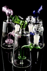 Small Stemless Colored Glass Water Pipe - WP1707