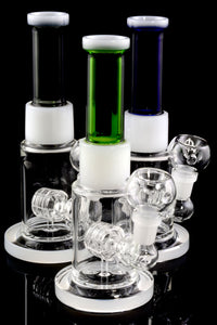 Small Stemless Colored GoG Straight Shooter Water Pipe with Matrix Perc - WP1708