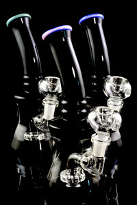 Small Black and Clear GoG Water Pipe with Stemline Showerhead Perc - WP1710