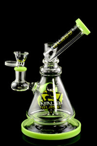 Stemless Green Sidecar Water Pipe with Stemline Octopus Perc - WP1726