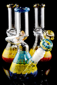 Small GoG Colorful Zig Zag Water Pipe - WP1754