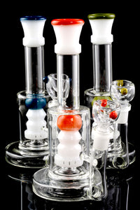 Small Stemless Colored GoG Water Pipe with Showerhead Perc - WP1755