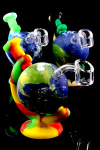 Colorful Silicone Globe Dab Rig - WP1774