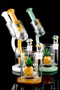 Large Colorful GoG Pineapple Microscope Water Pipe - WP1790