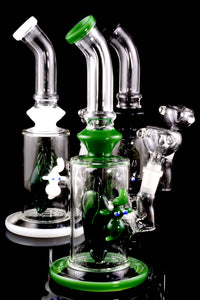 Medium Stemless GoG Frit Elephant Water Pipe with Fruit Perc - WP1811